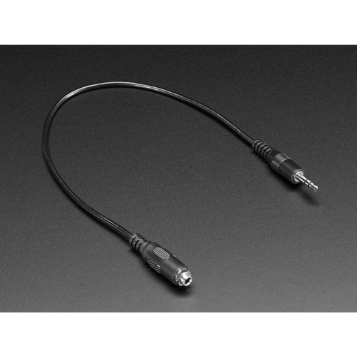 Panel Mount Stereo Audio Extension Cable - 1/8 / 3.5mm