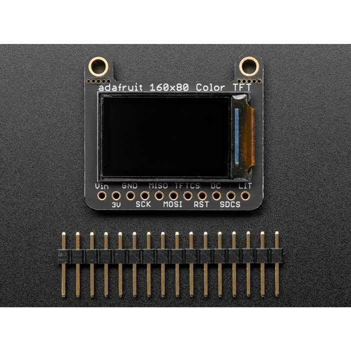 Adafruit 0.96 160x80 Color TFT Display w/ MicroSD Card Breakout [ST7735]