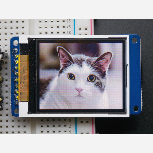 1.8 Color TFT LCD display with MicroSD Card Breakout [ST7735R]