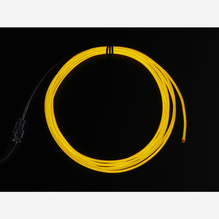 High Brightness Yellow Electroluminescent (EL) Wire - 2.5 meters [High brightness, long life]