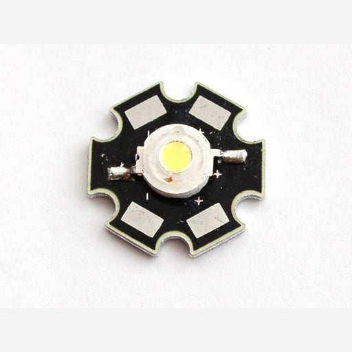 1 Watt Cool White LED - Heatsink Mounted