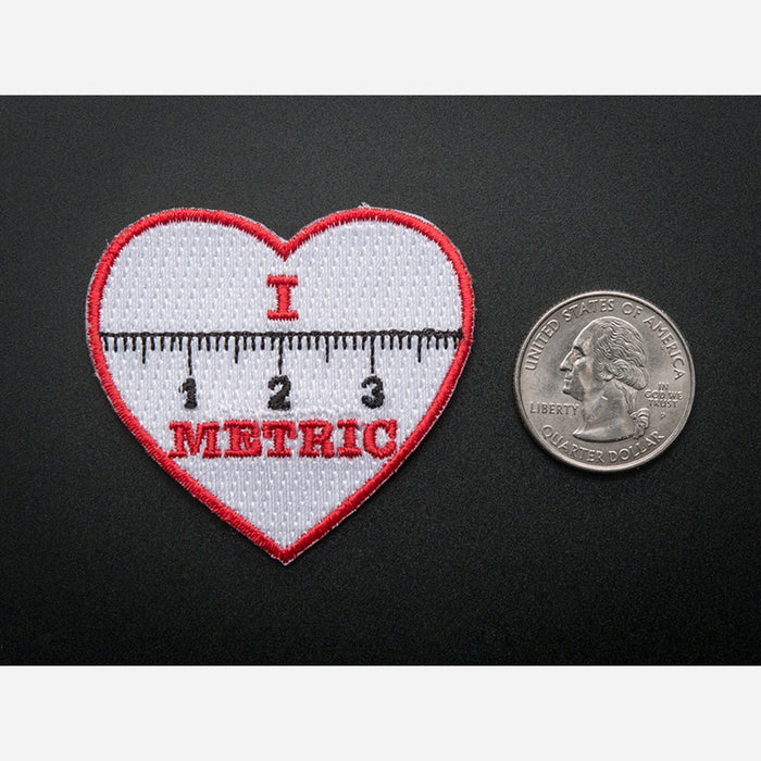 I heart METRIC - Skill badge, iron-on patch
