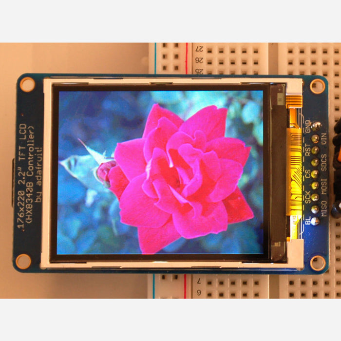 2.2 18-bit color TFT LCD display with microSD card breakout [HX8340BN]