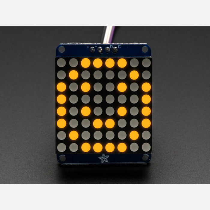 "Adafruit Mini 0.7"" 8x8 LED Matrix w/I2C Backpack - Yellow"