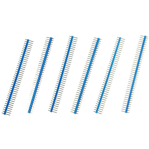 "Arduino Male Pin Headers | 0.1"" (2.54 mm) Straight Blue"