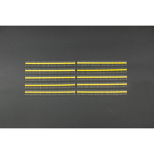 "Arduino Male Pin Headers | 0.1"" (2.54 mm) Straight Yellow"