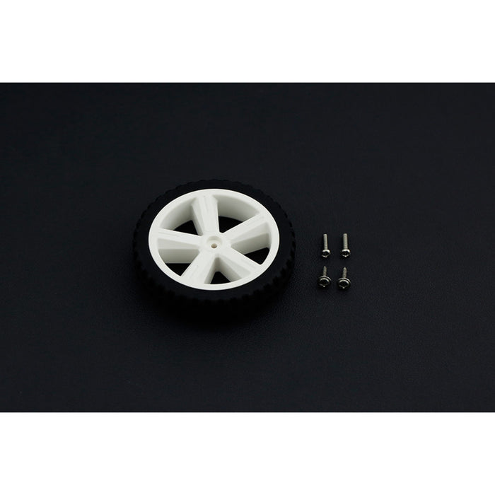 D80mm Silicone TT Motor Wheel  For Robot Project