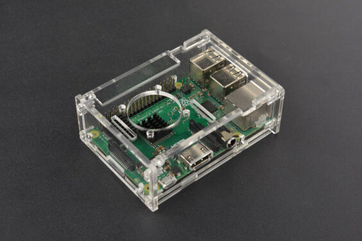 Transparent Acrylic Case for Raspberry Pi B+/2B/3B