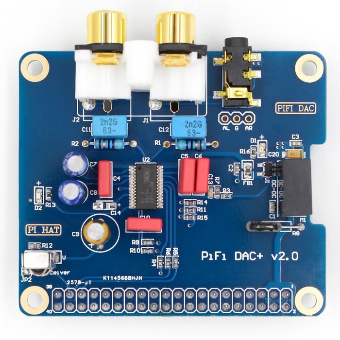 HIFI DAC Audio Sound Card Module I2S interface for Raspberry Pi