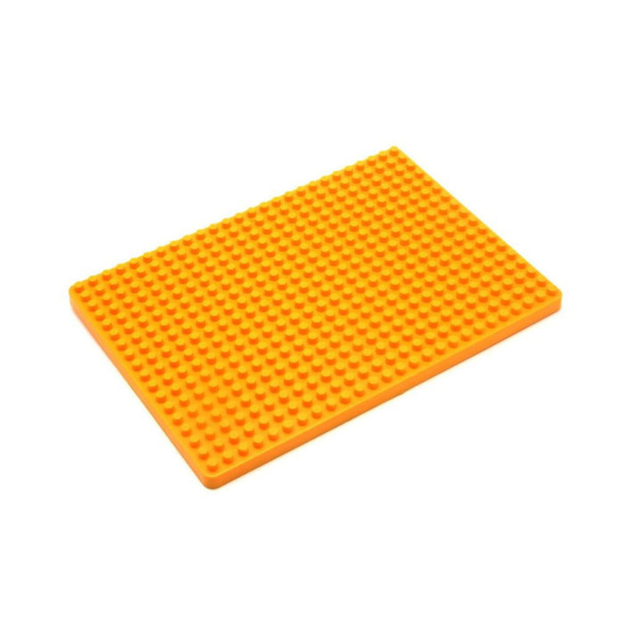 Base Plate For Block Building Breadboard(13.2x9.2cm) - Yellow