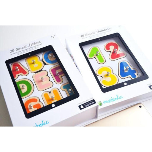 Marbotic Smart Letters + Smart Numbers Interactive Learning Toy for Tablets