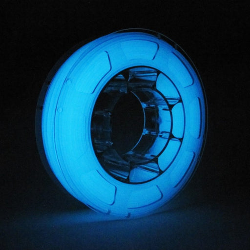 ABS Filament 1.75mm, 1Kg Roll - Glow-in-the-dark Blue