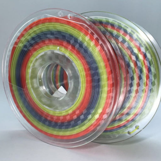 Rainbow PLA Filament 1.75mm, 0.5Kg Roll - Rainbow