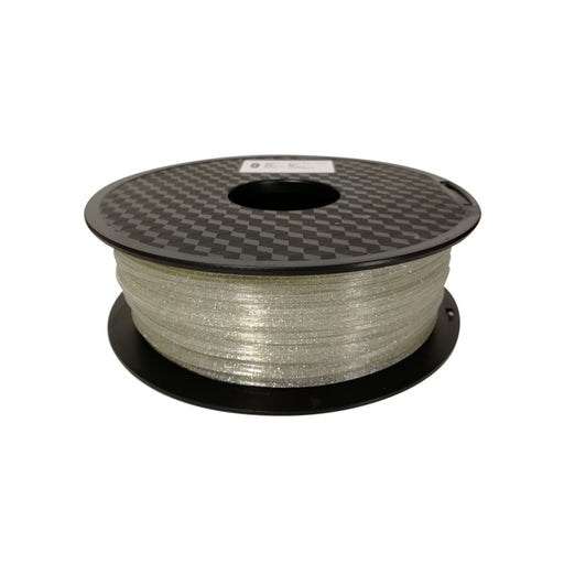 Shining PLA Filament 1.75mm, 1Kg Roll - Silver