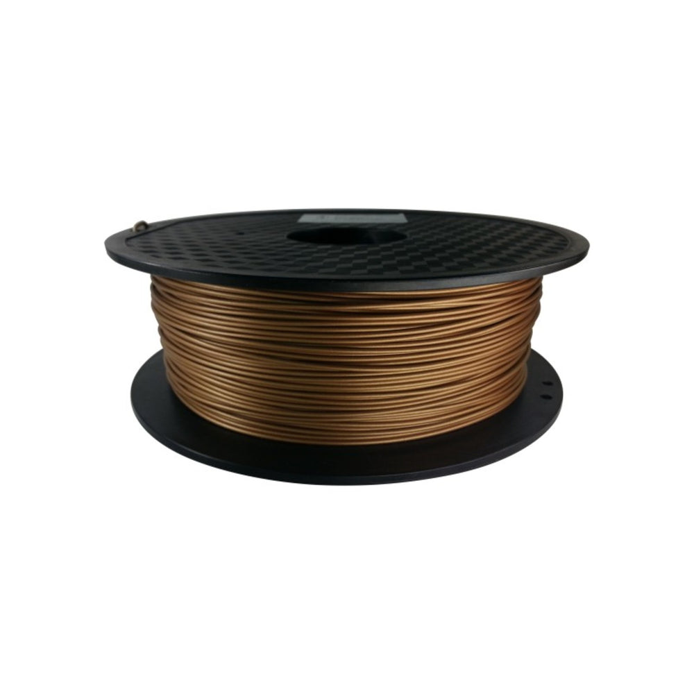 PLA Metal Filled Filament 1.75mm, 1Kg Roll - Frosted Copper