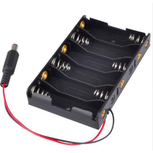 6xAA Battery Holder with DC connector