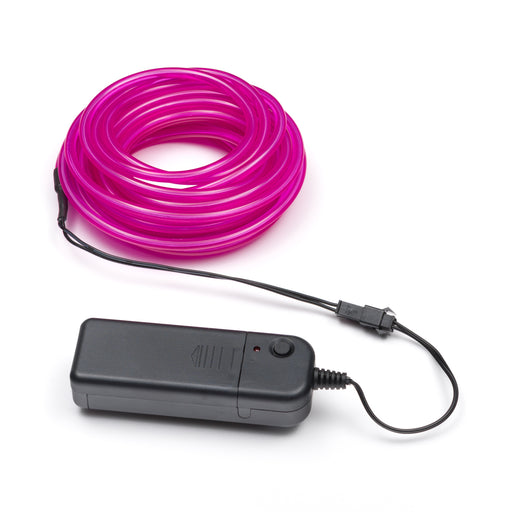 5M Flexible el wire with battery holder 5mm - Purple