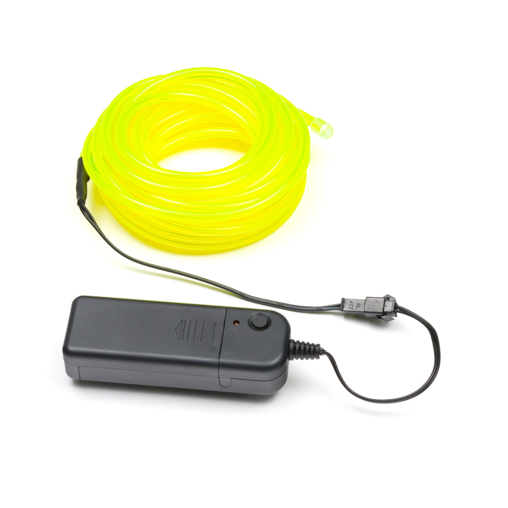 5M Flexible el wire with battery holder 5mm - Fluorescent Green