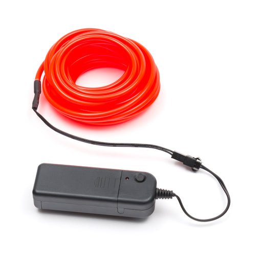 5M Flexible el wire with battery holder 5mm - Orange