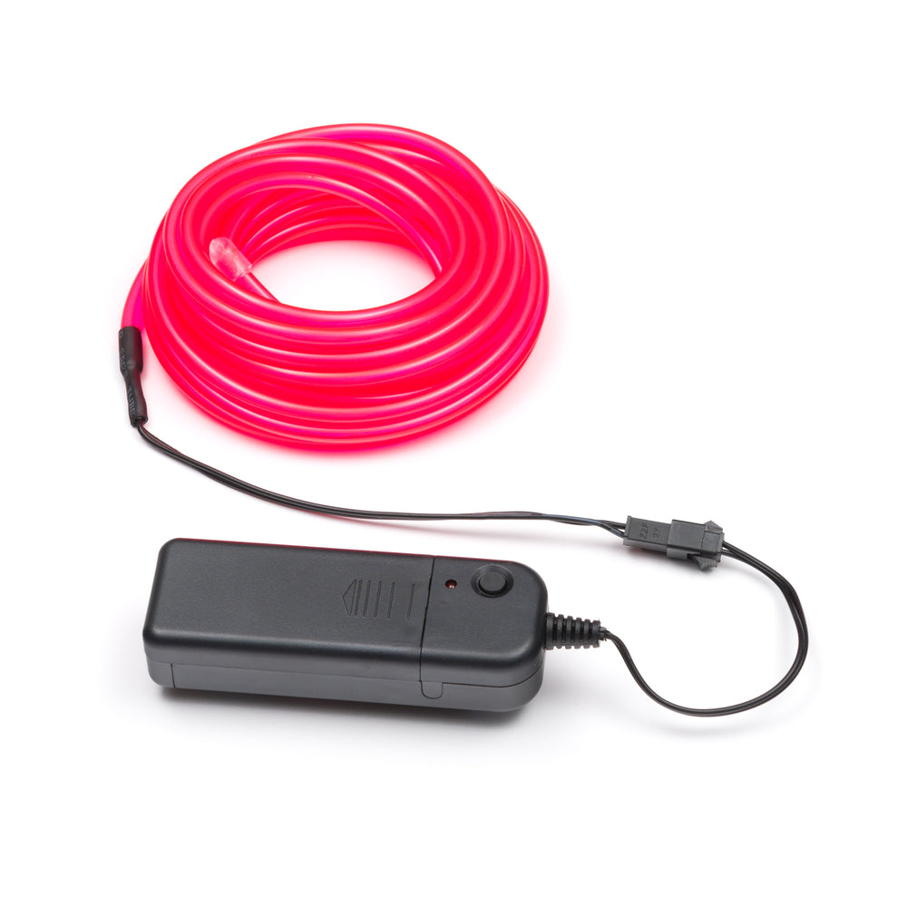 5M Flexible el wire with battery holder 5mm - Pink