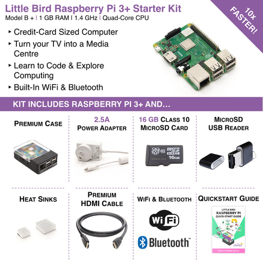 Little Bird Raspberry Pi 3 Plus Complete Starter Kit
