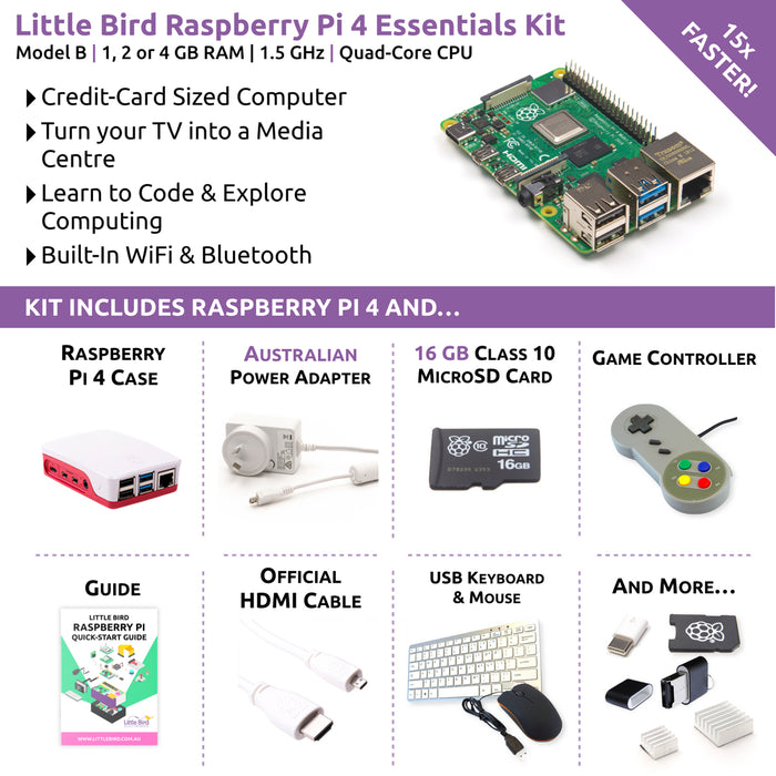 Little Bird Raspberry Pi 4 Complete Starter Kit (4GB)