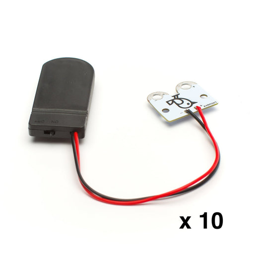 Safe Battery Pack Holder for CR2032 -10 pack