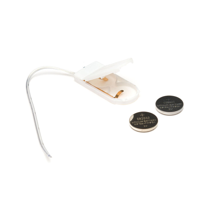 Coin Cell Battery Holder - 2xCR2032 (Enclosed) White