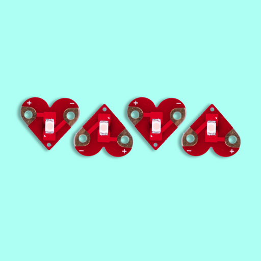 Teknikio Components - Heart LED Lights (4 Pack)