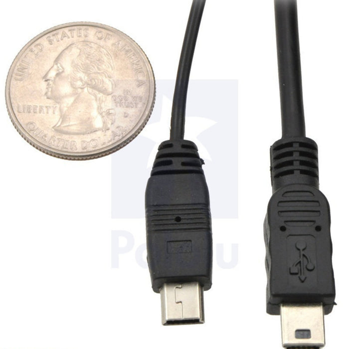 Thin (2mm) USB Cable A to Mini-B, 6 ft., Low/Full-Speed Only