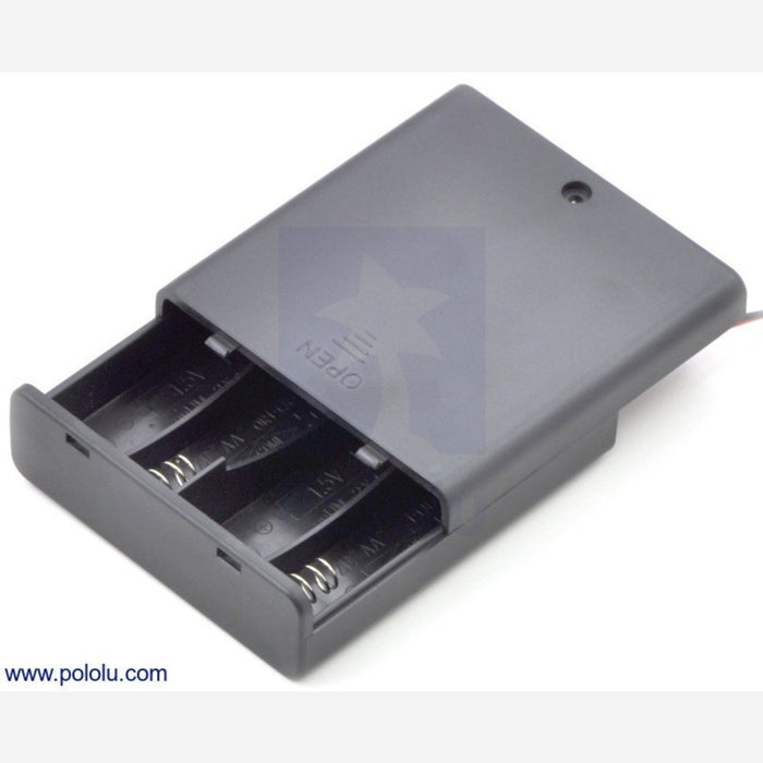 4-AA Battery Holder, Enclosed with Switch