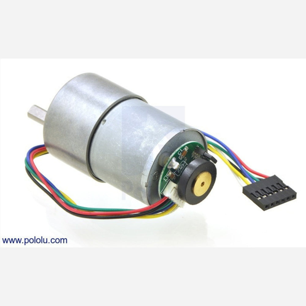 19:1 Metal Gearmotor 37Dx52L mm with 64 CPR Encoder (No End Cap)