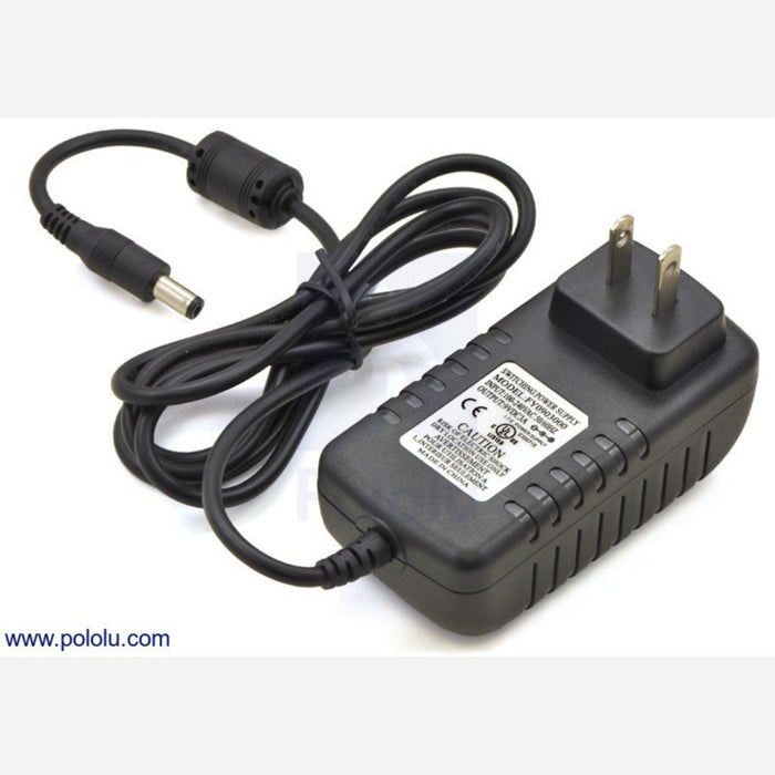 Wall Power Adapter: 9VDC, 3A, 5.5x2.1mm Barrel Jack, Center-Positive