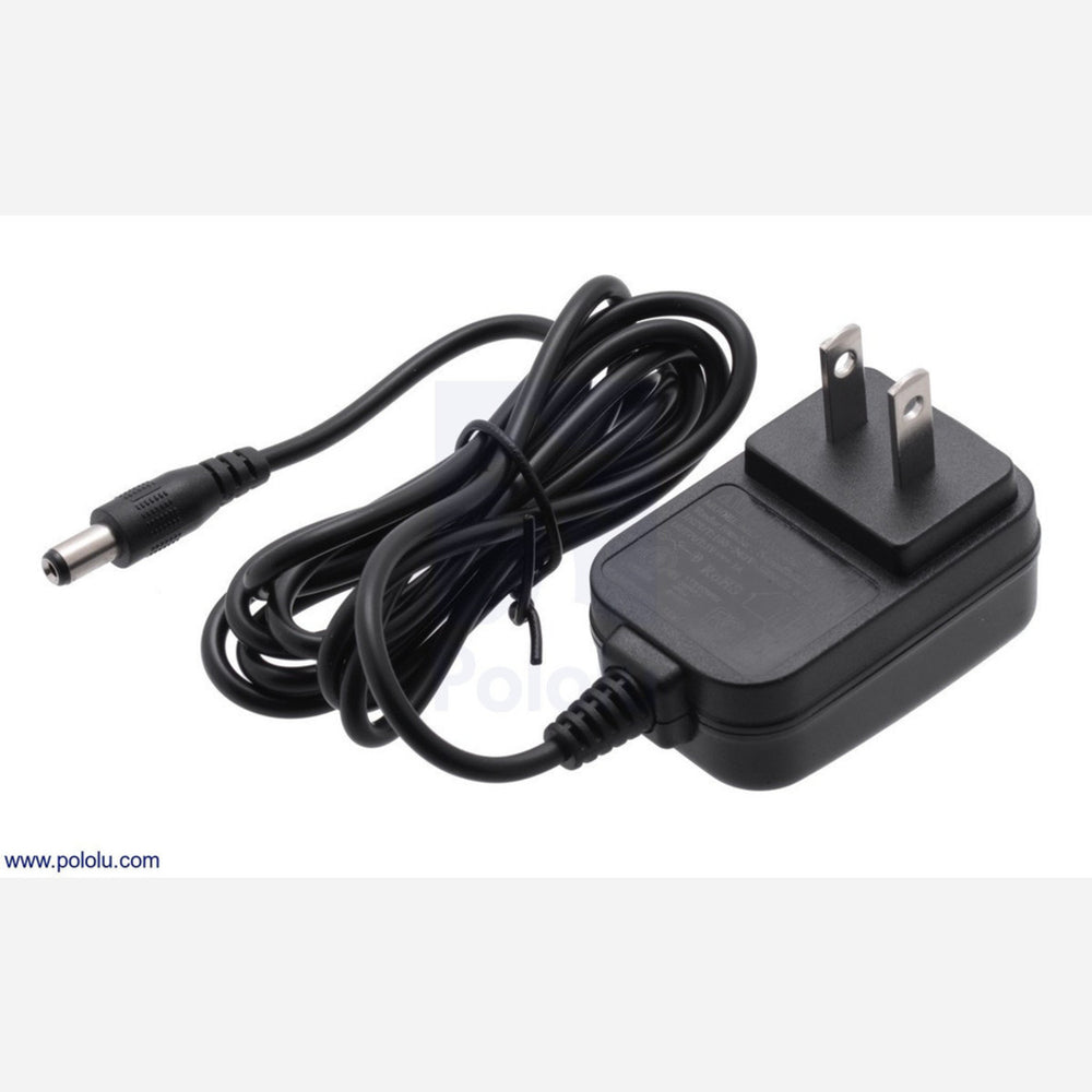 Wall Power Adapter: 5VDC, 1A, 5.5x2.1mm Barrel Jack, Center-Positive