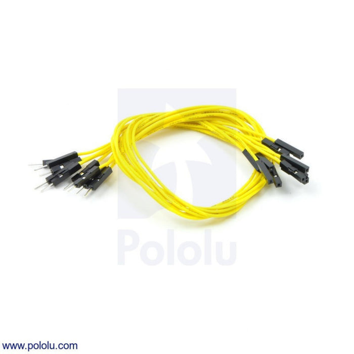 "Premium Jumper Wire 10-Pack M-F 12"" Yellow"