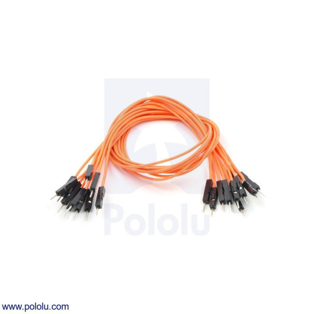 "Premium Jumper Wire 10-Pack M-M 12"" Orange"