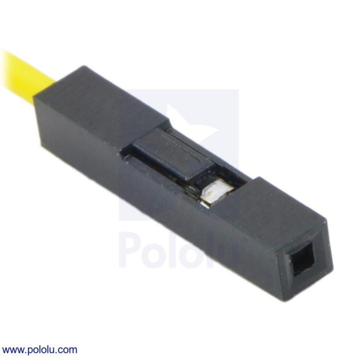 "Wires with Pre-crimped Terminals 10-Pack F-F 6"" Yellow"