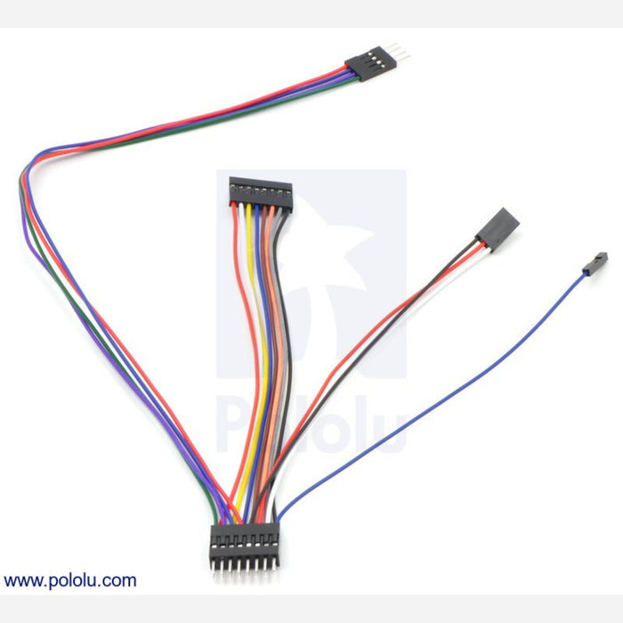 "Wires with Pre-crimped Terminals 10-Pack F-F 6"" Gray"