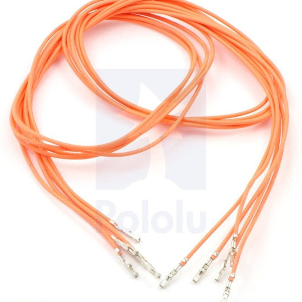 "Wires with Pre-crimped Terminals 5-Pack F-F 24"" Orange"