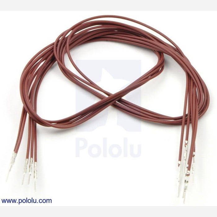 "Wires with Pre-crimped Terminals 5-Pack M-M 24"" Brown"