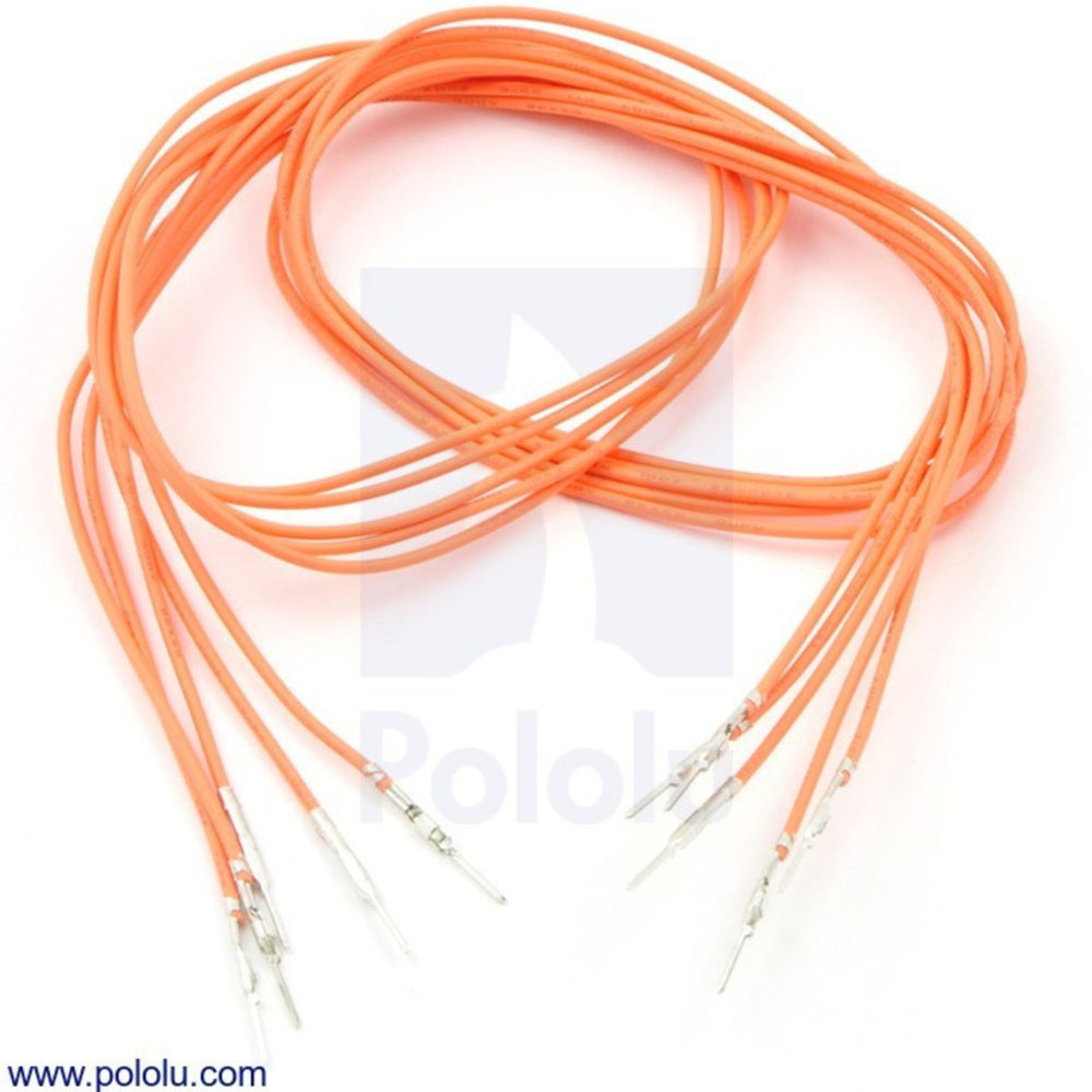 "Wires with Pre-crimped Terminals 5-Pack M-M 24"" Orange"