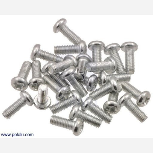 Machine Screw: M2.5, 6mm Length, Phillips (25-pack)