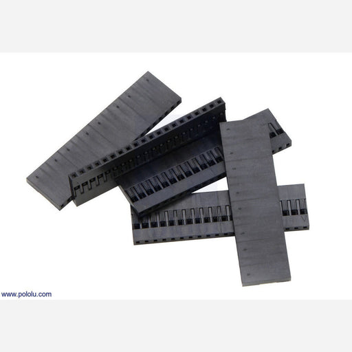 "0.1"" (2.54mm) Crimp Connector Housing: 1x20-Pin 5-Pack"