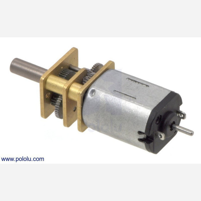75:1 Micro Metal Gearmotor LP 6V with Extended Motor Shaft