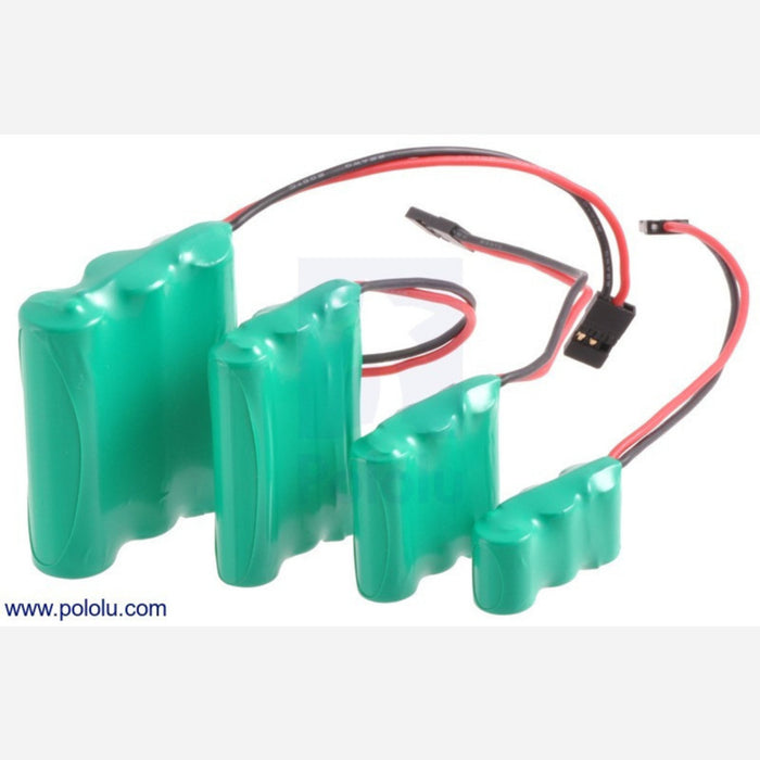 Rechargeable NiMH Battery Pack: 4.8 V, 200 mAh, 4x1 1/3-AAA Cells, JR Connector