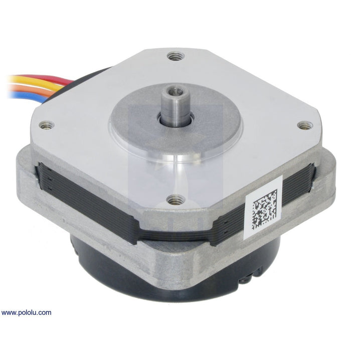 Sanyo Pancake Stepper Motor with Encoder: Bipolar, 200 Steps/Rev, 42x24.5mm, 3.5V, 1 A/Phase, 4000 CPR