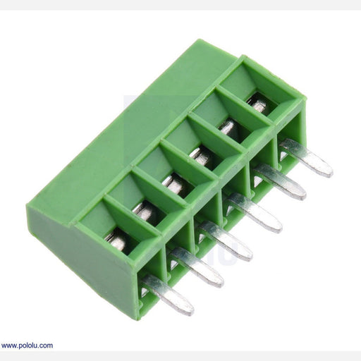 "Screw Terminal Block: 6-Pin, 0.1"" Pitch, Side Entry"