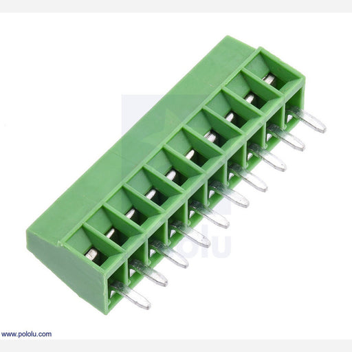 "Screw Terminal Block: 10-Pin, 0.1"" Pitch, Side Entry"