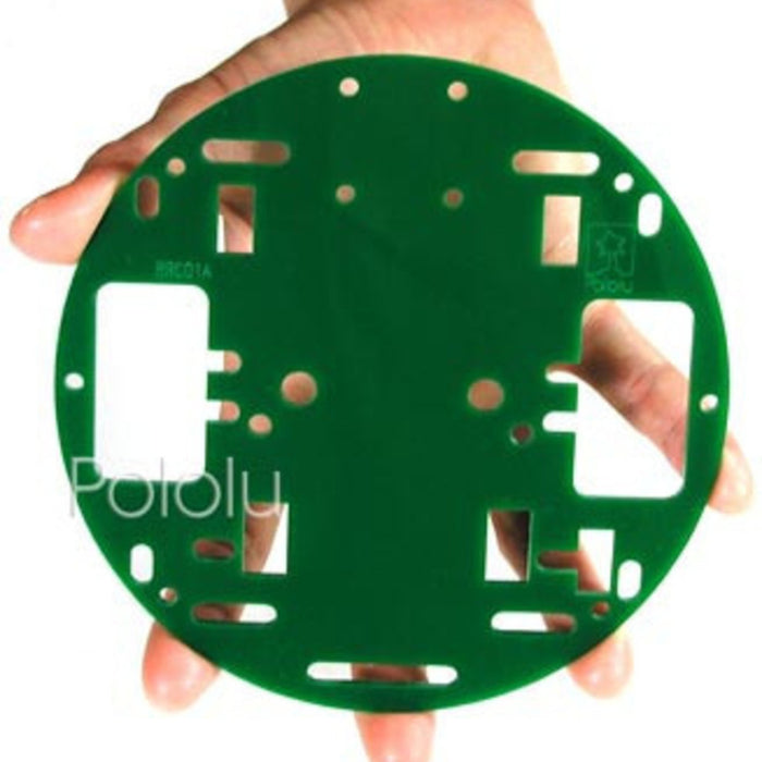 Pololu Robot Chassis RRC01A Solid Green