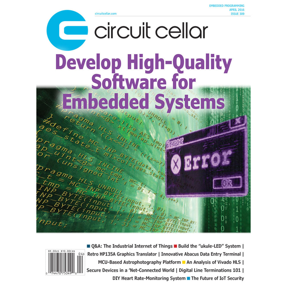 Free Circuit Cellar magazine April 2016